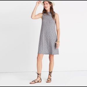 Madewell Sleeveless Heather Gray Mock Neck Dress
